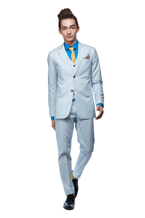 Custom tailoring - Light blue summer